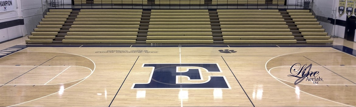 Center Court of Charlie Rawlings Memorial Gymnasium