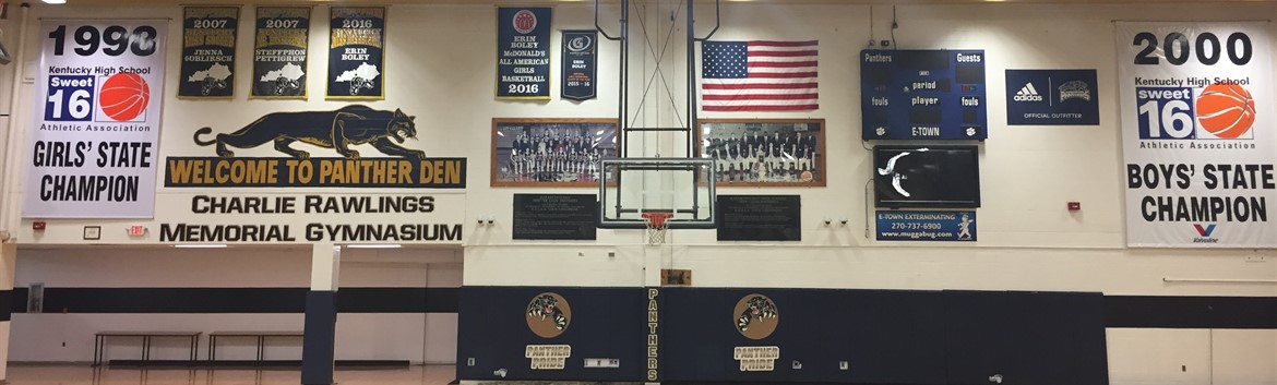 CHAMPIONS WALL in Charlie Rawlings Memorial Gymnasium