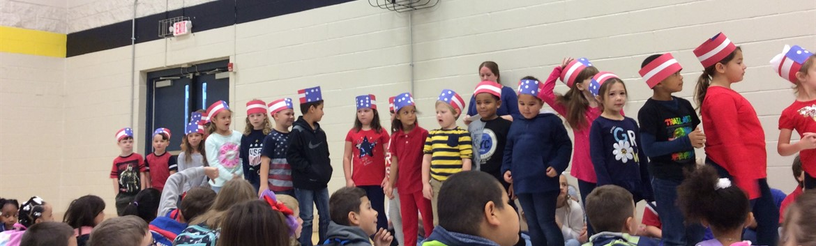Mrs. Parker's 1st graders Veterans Day performance