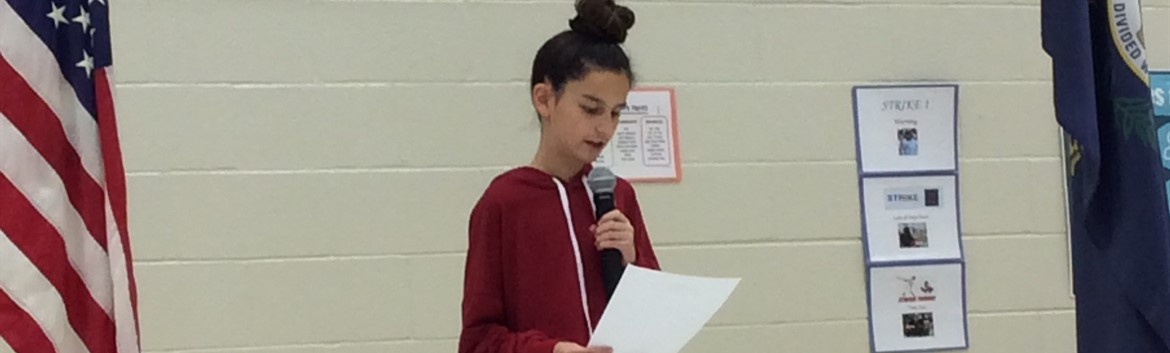 Emma Rains sharing her Veterans Day letter