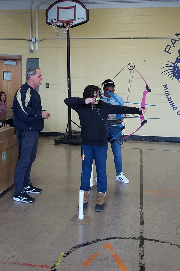 Archery with 5th graders
