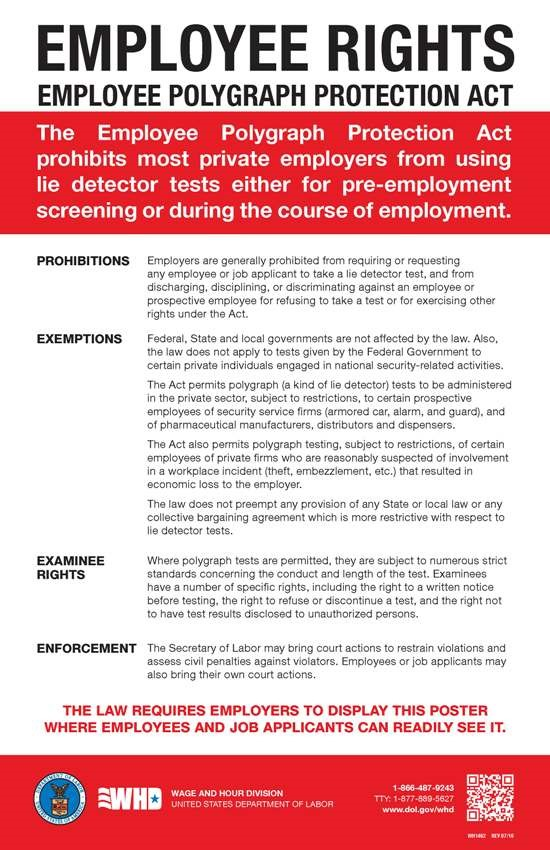Click for the Employee Polygraph Protection Act